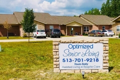 Front Entrance Sign -  Optimized Senior Living Group (Lebanon, Ohio)